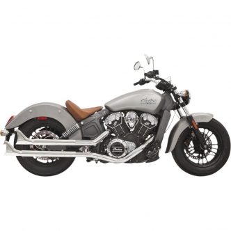 Bassani 2 1/4 Inch Slip On Mufflers And Fishtail End Caps In Chrome For 2014-2016 Indian Scout (8S17E)