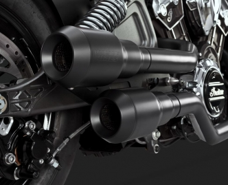 Vance & Hines Grenades Hi-Output 2-2 Exhaust System For 2015-2019 Indian Scout In Black (18654)