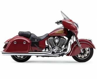 Cobra 4 Inch Slip On Mufflers With Scallop Tips In Chrome For 2014-2019 Indian Chieftain Models (5204)