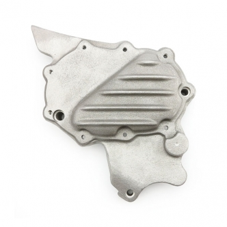 EMD Ribbed Sprocket Cover in Raw Aluminium Finish For 2004-2020 XL Models (ARM382475)