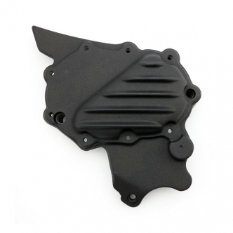 EMD Ribbed Sprocket Cover in Black Aluminium Finish For 2004-2020 XL Models (ARM582475)