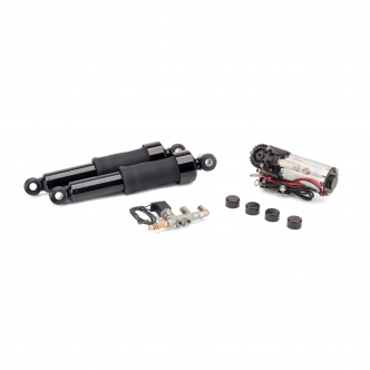 Arnott Smooth Ride Kit - Low in Black Finish For 2005-2008 Sportster Models (9009-BS-B)