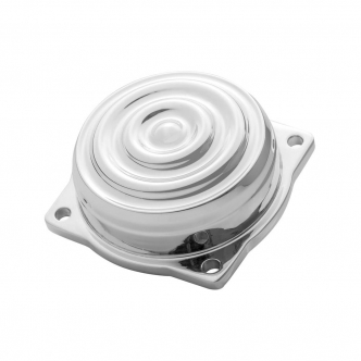 Motone Customs CV Finned Carb Top Lid Cover In Rippled Polished Finish (MTE039)