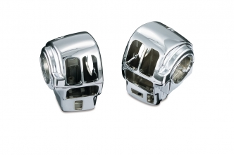 Kuryakyn Switch Housings In Chrome Finish For Harley Davidson Touring Motorcycles With Cruise (1742)