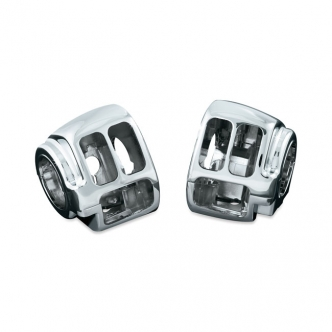 Kuryakyn Switch Housings In Chrome Finish For Harley Davidson Softail, Dyna & Sportster Motorcycles (1747)