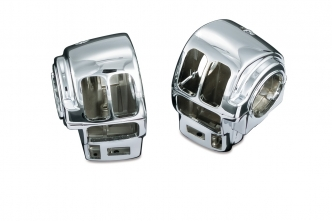Kuryakyn Switch Housings In Chrome Finish For Harley Davidson Touring & Trike Motorcycles (7807)