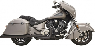 Bassani Exhaust 4 Inch True Duals Exhaust System in Black Finish For 2014-2020 Indian Chieftain, Roadmaster & Springfield Models (8C16BSB)
