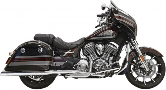 Bassani Exhaust 4 Inch True Duals Exhaust System in Chrome Finish For 2014-2020 Indian Chieftain, Roadmaster & Springfield Models (8C16S)
