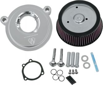 Arlen Ness Big Sucker Stage 1 Air Cleaner Kit With Chrome Backing Plate & Pre-Oiled Filter For Harley Davidson 1999-2017 Dyna, Softail & Touring Models (Excl. E-Throttle) (18-507)