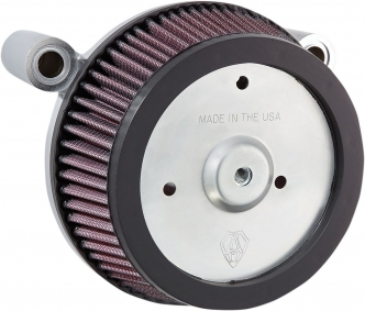 Arlen Ness Big Sucker Stage 1 Air Cleaner Kit With Standard Backing Plate & Pre-Oiled Filter For Harley Davidson 1999-2017 Dyna, Softail & Touring Models (Excl. E-Throttle) (18-505)