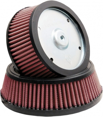 Arlen Ness Replacement Air Filter Big Sucker Stage 1 For 1993-1999 B.T. with CV carb, 2000-2015 Softail, 1999-2017 Dyna (excl. 2017 FXDLS) 1999-2007 FLT, 1988-2020 XL with Custom Round Cover (18-098)