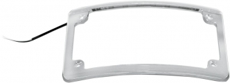 Custom Dynamics Radius License Plate Frame With L.E.D. Illumination In Chrome Finish (LPF-RAD-C-LP)
