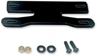Custom Dynamics UTV Universal License Plate Mount In Gloss Black Finish (CD-UTV-LPF-MT)