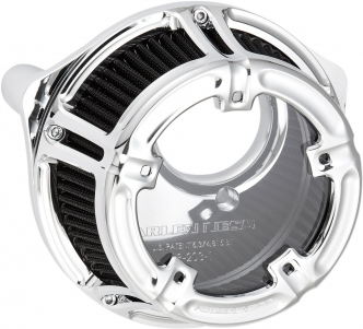 Arlen Ness Method Clear Series Air Cleaner In Chrome Finish For Harley Davidson 2018-2020 Softail & 2017-2020 Touring Models (18-970)