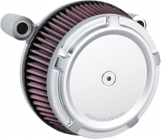 Arlen Ness Beveled Stage 1 Big Sucker Air Cleaner Kit In Chrome Finish With Synthetic Air Filter For Harley Davidson 1988-2020 Sportster Models (50-849)
