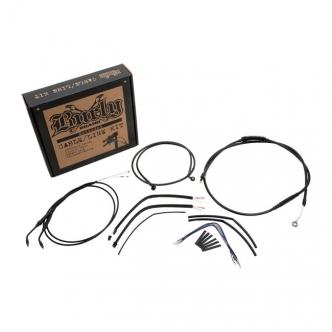 Gorilla Bars Burly B30-1163 Cable /& Brake Line Kit Stainless Braid 18in