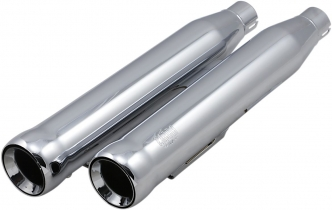Cobra 3 Inch Neighbour Hater Slip-On Mufflers In Chrome For Harley Davidson 1991-2016 Dyna Models (Excludes 2008-2016 FXDF Fat Bob, 2010-2016 FXDWG Wide Glide & 2016 FXDLS Lowrider S Models) (6045)