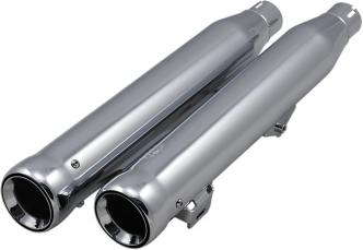 Cobra 3 Inch Neighbour Hater Slip-On Mufflers In Chrome Finish For Harley Davidson 2008-2016 FXDF Fat Bob, 2010-2016 FXDWG & 2016 FXDLS Models (6049)