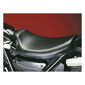 Le Pera Bare Bones Smooth Biker Gel Solo Seat 10.5 Inch Wide in Black Finish For 1982-1994 FXR Models (LG-008)